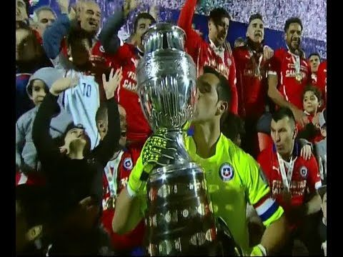 A crowning moment Chile national team and his joy copa amireca 2015