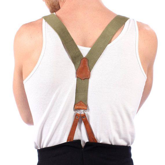 Gift for Men / 1950s Mens Suspenders / Vintage by BetaPorHomme, $29.00