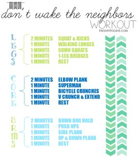 This do anywhere workout plan is full of effective but quiet exercises perfect for late nights, dorm workouts, or apartments! #health #fitness