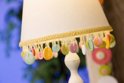 button lamp shade craft for kids room