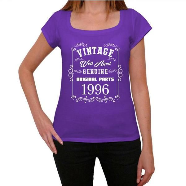#vintage #well #aged #purple #tshirt  Hey color lovers, wear purple! Pick the best present here! --> https://www.teeshirtee.com/collections/vintage-well-aged-womens-t-shirt-purple/products/1996-well-aged-purple-womens-short-sleeve-rounded-neck-t-shirt-100-cotton-available-in-sizes-xs-s-m-l-xl