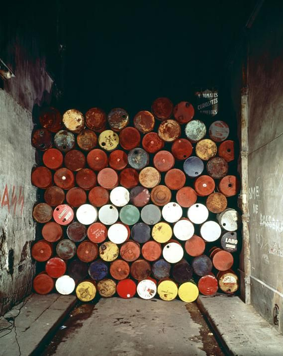 christo jeanne claude wall barrels Christo Mastaba, Oil Barrels