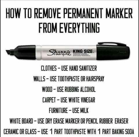 Removing permanent marker from everything