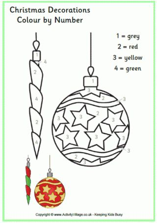 Christmas Decoration Colour by Number
