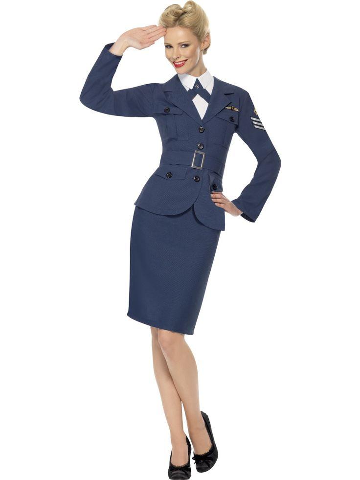 40-luvun lentokapteenitar. Arvostusta, tyylikkyyttä sekä karismaa, näitä kaikkia tämä naamiaisasu tuo kantajalleen.