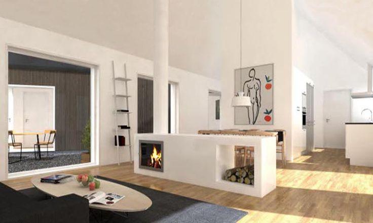 Ladhus vardagsrum. Arkitekt: Thomas Sandell