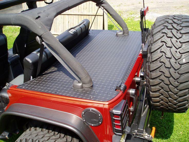 JK rear cover, diamondplate
