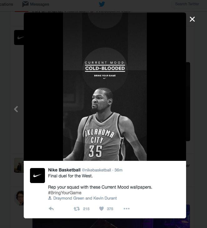 Smartphone background tweeted for playoffs