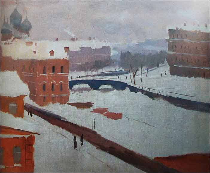 Ведерников А. Канал Грибоедова зимой