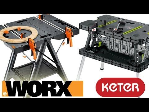 25 Worx Pegasus Folding Work Table Vs Keter Review And Demo Youtube Keter Folding Work Table Work Table Mobile Project