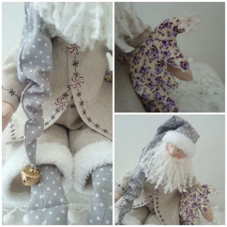 D coration p re no l inspiration tilda shabby chic gris for Table de noel shabby chic