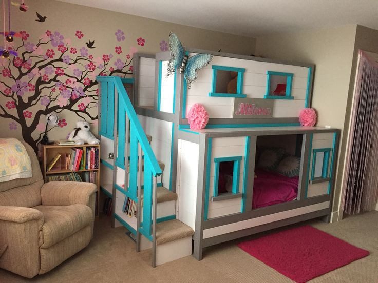 Full bottom bunk - Sweet Pea Bed - DIY Projects