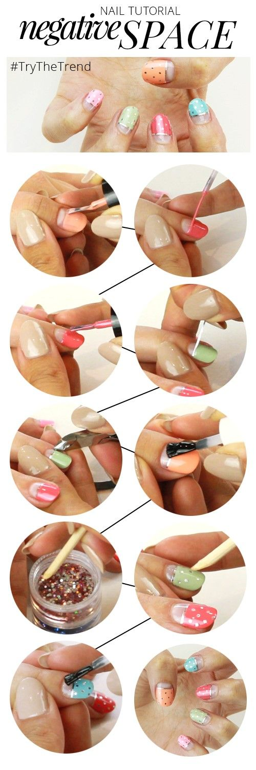 #TryTheTrend | Create cool & colourful #NegativeSpace #NailArt with our new #tutorial: http://www.feelunique.com/beauty-all-access/negative-space-nails/