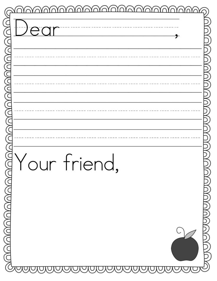 25+ Beste Ideeën Over Letter Writing Template Op Pinterest