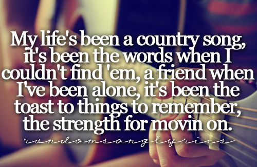 Country music is the best therapy I know.