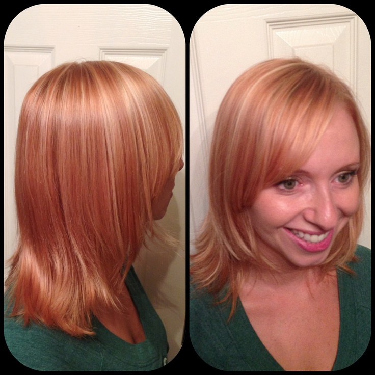 Hair blonde highlights redhead