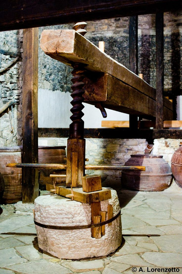 """Cyprus Omodos village. An old wine-press known as """"Linos"""" is open to visitors."""
