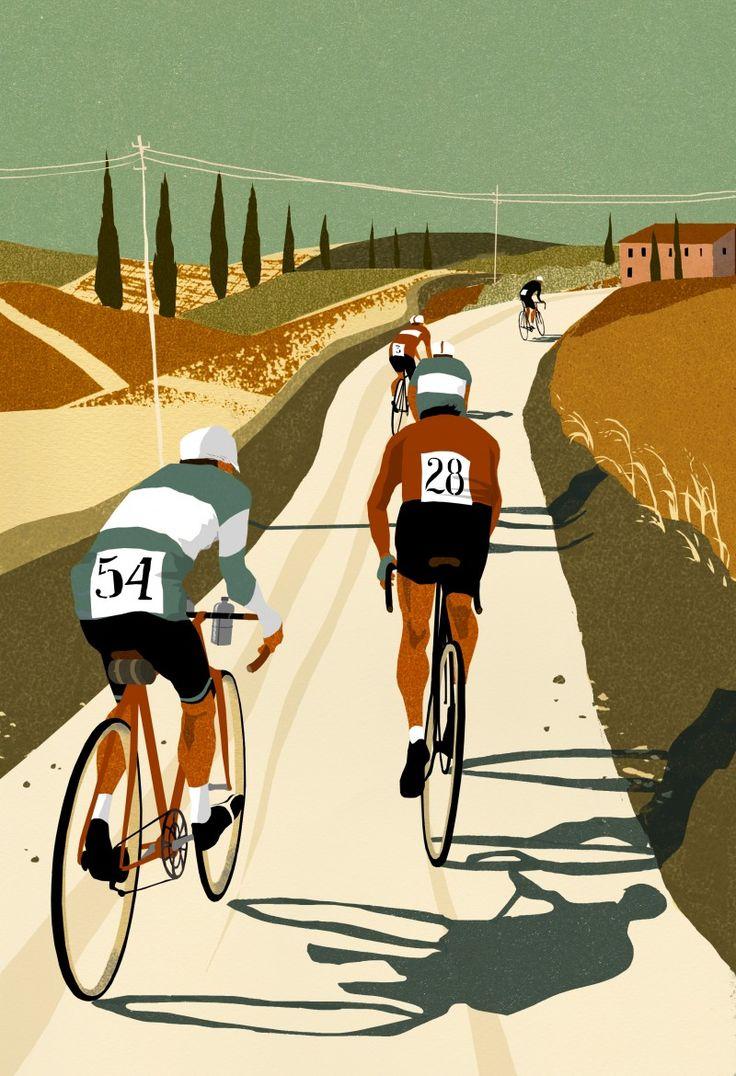 Del ciclista Bucket List ufficiale <Eliza Southwood - Illustratore