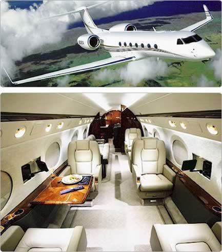 Gulfstream G550 Corporate Jet, external and internal image - AJ MacDonald - Yacht Broker - AJ@DenisonYachtSales.com