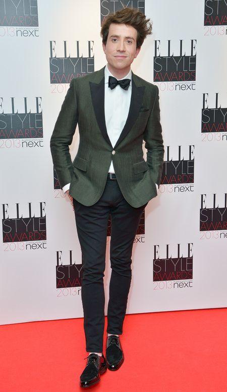 Elle Style Awards 2013, nick grimshaw, red carpet, host - - handbag.com