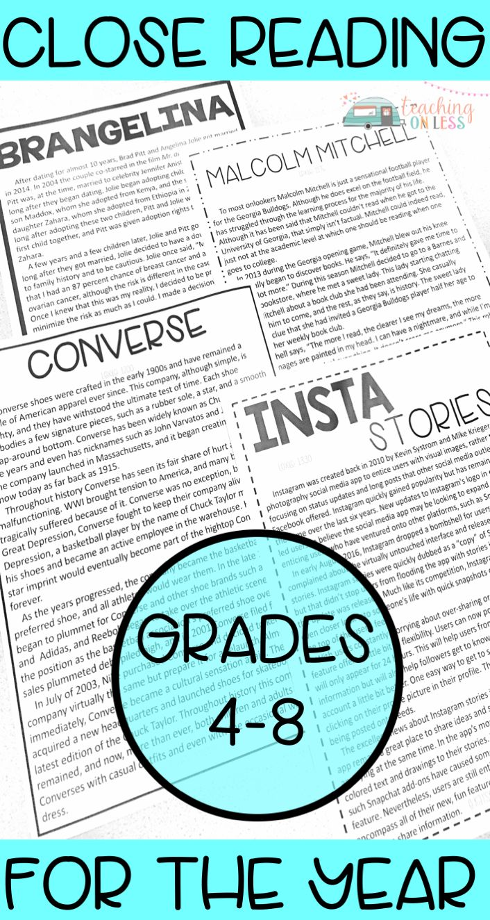 Teach close reading for the year with these passages and anchor charts. This toolbox will help your middle school students become better readers through activities and strategies. Close Reading | secondary | graphic organizers | lessons | symbols | posters