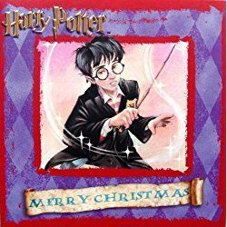 "Harry Potter ""Harry Casts a Spell"" UK Christmas Card Imported from England"