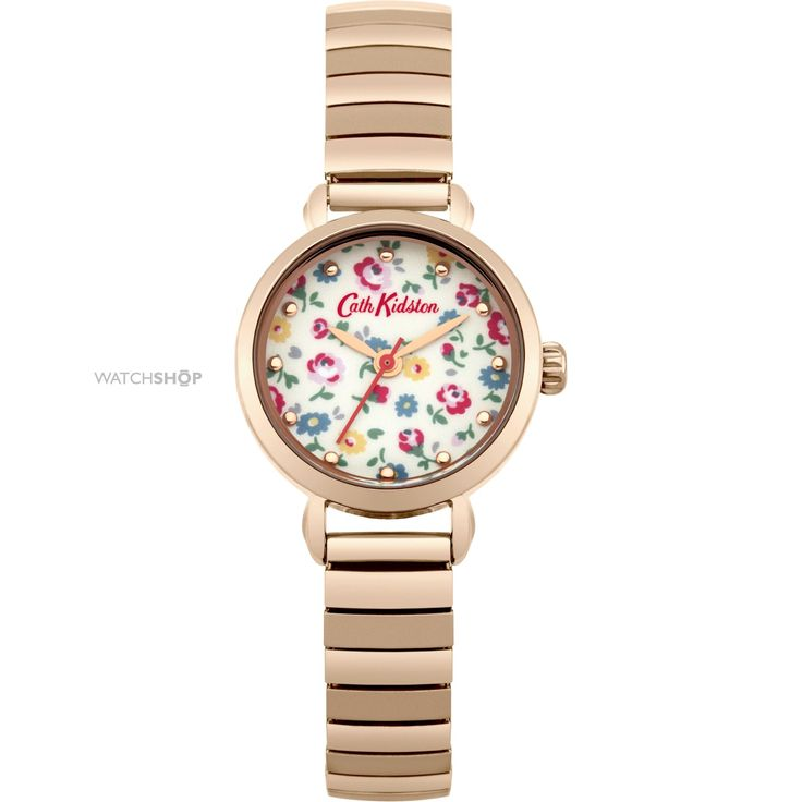 Ladies Cath Kidston Little Flower Buds Rose Gold Expander Watch CKL016RGM