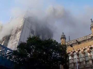 Fire in Rush Hour at Mumbai's Main Train Station, CST
