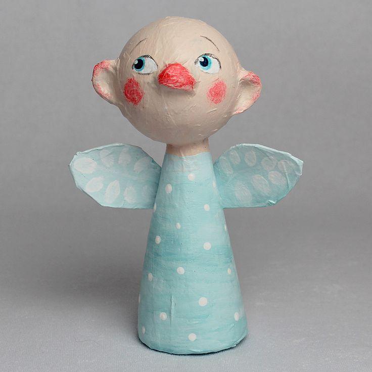 David, Little Angel, OOAK Paper Mache Art Doll by CharlotteEngelStudio on Etsy