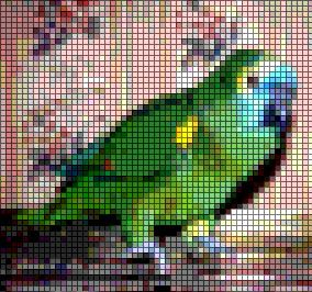 How to make cross-stitch charts in Photoshop 4.0!!! Even links to a site that helps match RBG values to DMC threads!
