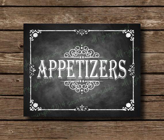 The 25 best diy wedding appetisers ideas on pinterest easy appetizers chalkboard wedding sign diy by sasafrasprintables 300 solutioingenieria Images