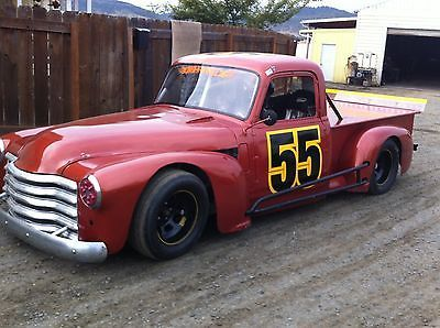 race pickup | 1953 Chevy pickup street stock race car, rat rod, race track ...