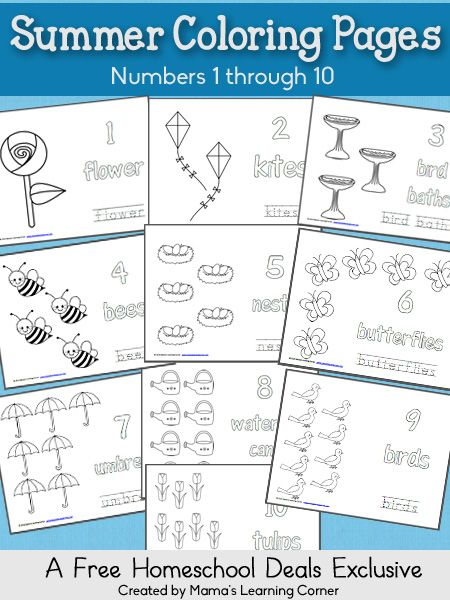 149 best Homeschool Summer images on Pinterest Homeschooling - new coloring pages numbers 1