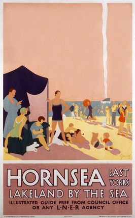 Hornsea East Yorks - Lakeland By The Sea - LNER Vintage beach poster U.K. railway #essenzadiriviera
