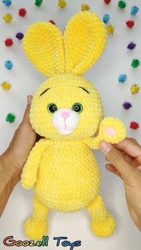 CROCHET BUNNY Pattern, Amigurumi pattern, Crochet  Animal, Plush Bunny tutorial, Knitted rabbit – Crochet