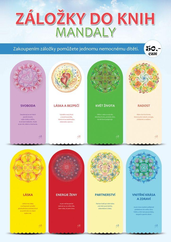MANDALY ANEB POMÁHÁME | Záložka do knihy - LÁSKA | U Melluzínky- Látky plné radosti