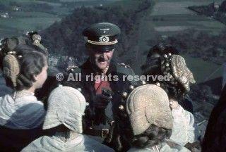 general franz ritter von epp with local women of sudetenland_wwii
