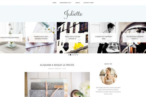Blogger Template - Juliette by Blogger Templates on @creativemarket