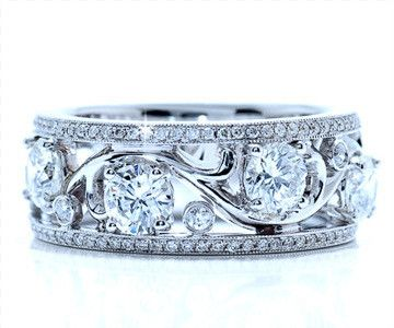 1.46 cttw Diamond Band In 18k White Gold