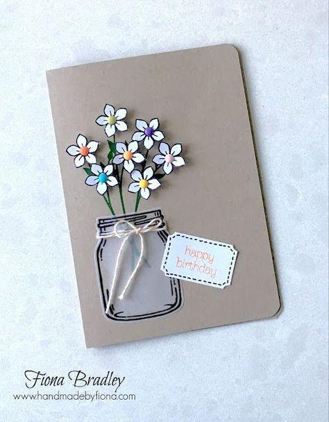 Днем рождения, креативная открытка подруге