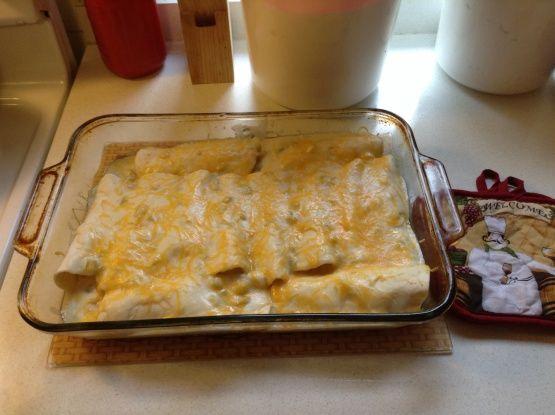 Simply Sour Cream Chicken Enchiladas Recipe - Food.com: Food.com