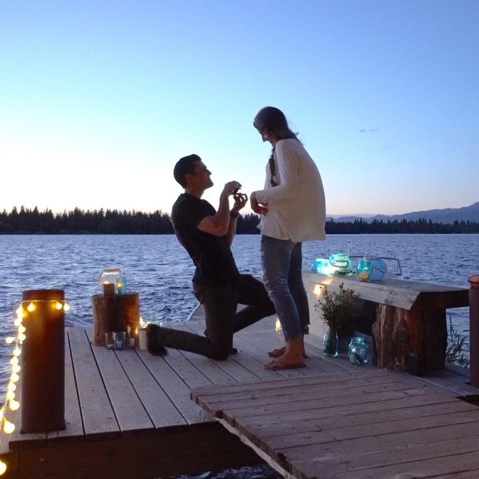 marriage proposal on holiday