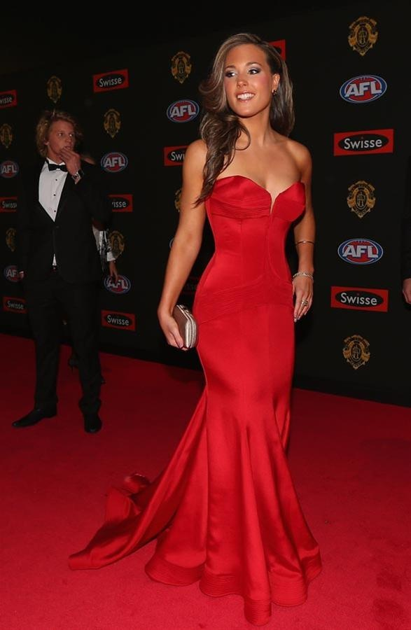 Belinda Riverso wearing Julie Simonelli at the 2012 Brownlow Medal