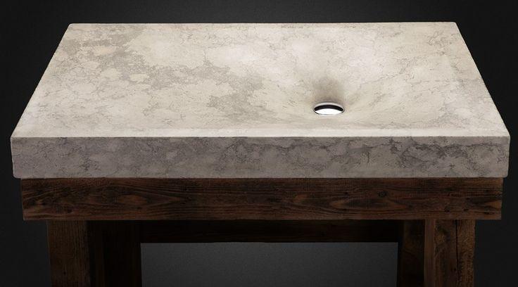 """Luna"" concrete sink by Pietra Danzare"
