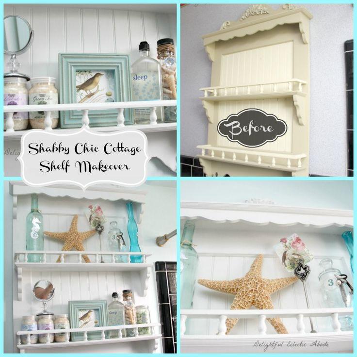 Shabby Chic Cottage shelf makeover