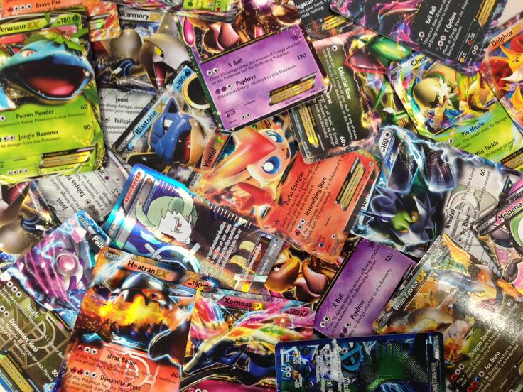 50 assorted pokemon trading cards w free ex