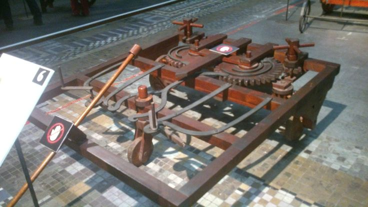 Een uitvinding van Leonardo da Vinci. Hij gebruikte de uitvinding als een soort hefboom.