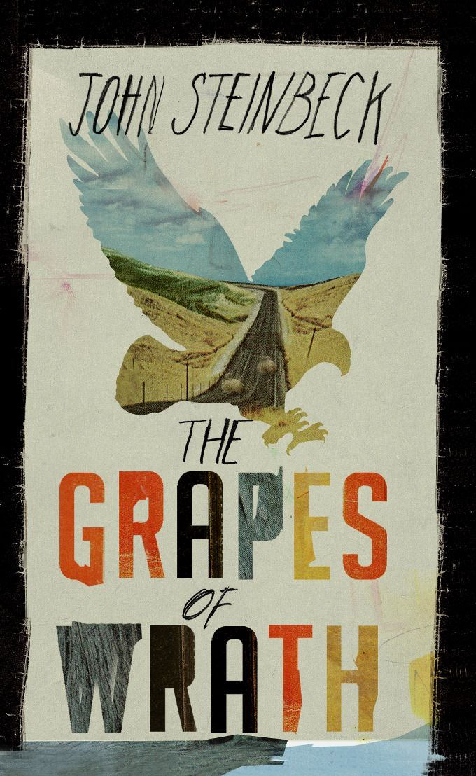 Book cover design / Penguin Publishing UK  The Grapes of Wrath by John Steinbeck    © Kathryn Macnaughton