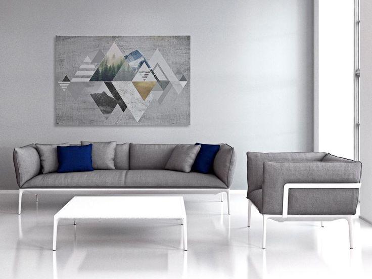 19601 Obraz na płótnie - ABSTRAKCJA - geometryczny