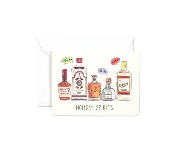 Holiday Spirits Mini Card by Gotamago